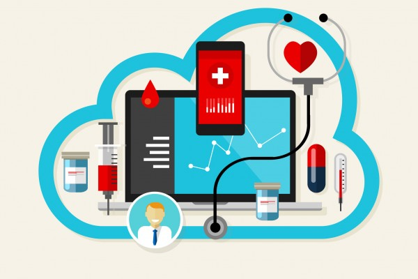 40034748 - online cloud medical health internet medication vector illustration
