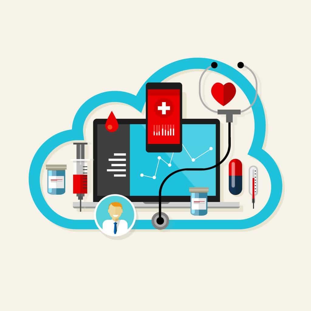 40034748 - online cloud medical health internet medication vector illustration